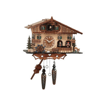 Quartz cuckoo clock with music dancing couples 410QMT