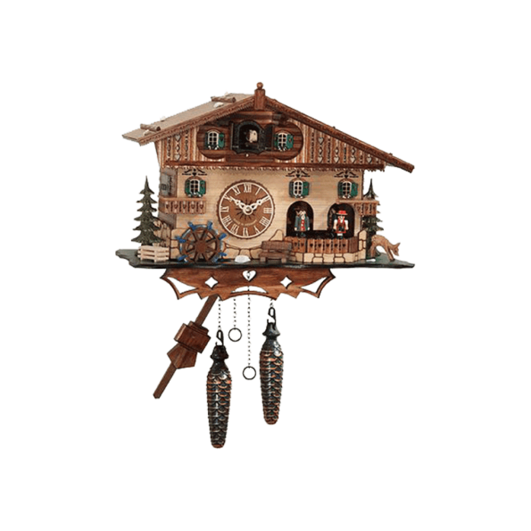 Quartz cuckoo clock with music dancing couples 410QMT