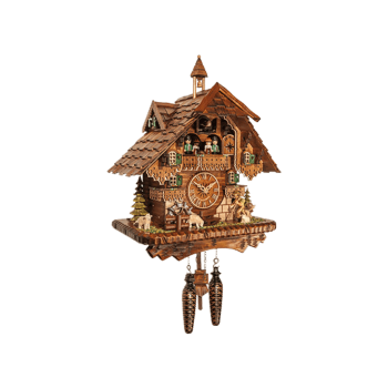 Sheep's shepherd Quartz cuckoo clock with music dancing couples 46212QMT
