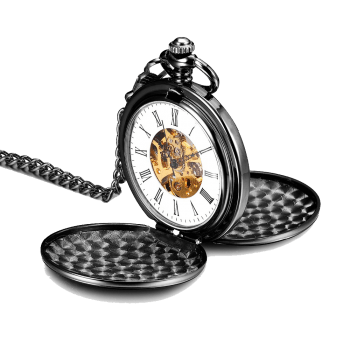 Mechanical Pocket Watch Silver