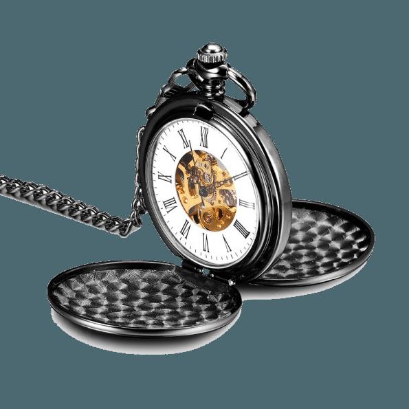 Mechanical Pocket Watch Silver