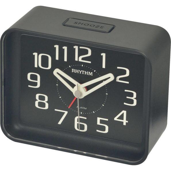 black bedside clock