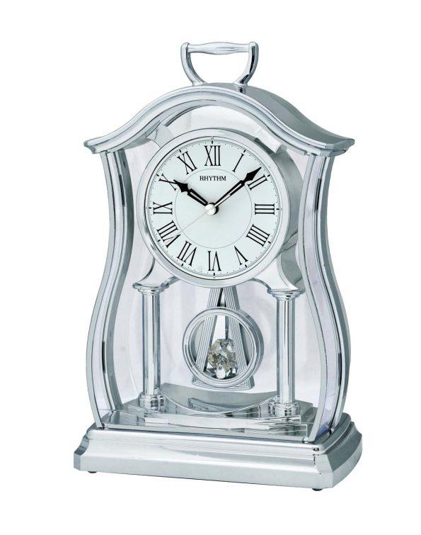 silver table clock
